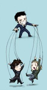 pulling_your_strings_sherlock_by_clockwork_fox-d4m9tl8